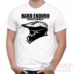 """Футболка """"HARD ENDURO"""" #3 (Белая 100% хлопок)"""