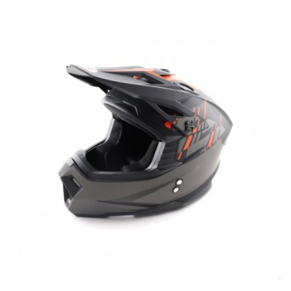 Шлем (кроссовый) Ataki MX801 Strike (оранжевый/черный матовый)