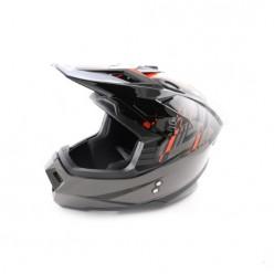 Шлем (кроссовый) Ataki MX801 Strike (красны/черный глянцевый)