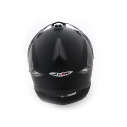 Шлем (мотард) Ataki FF802 Solid (Черны матовый)