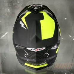 Шлем (кроссовый) Ataki MX801 Strike (Hi-Vis желтый/черный)