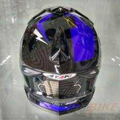 Шлем (кроссовый) Ataki MX801 Strike (синий/черный глянцевый)