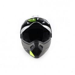 Шлем (мотард) Ataki FF802 Strike (Hi-Vis желтый/черный)