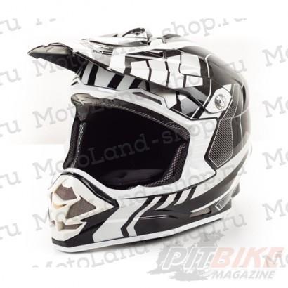 Шлем (кроссовый) HIZER B6195 black/white