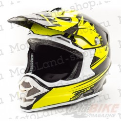 Шлем (кроссовый) HIZER B6195 black/yellow
