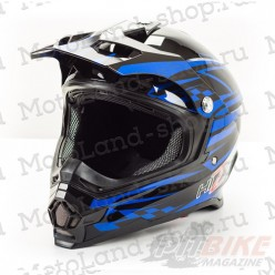 Шлем (кроссовый) HIZER B6196 black/blue