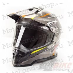 Шлем (Мотард) HIZER B6197-1 light gray