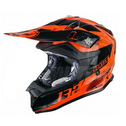 Шлем (кроссовый) JUST1 J32 PRO Kick оранжевый глянцевый