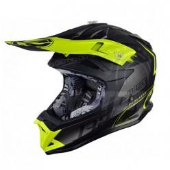 Шлем (кроссовый) JUST1 J32 PRO Kick желтый/черный/титановый матовый
