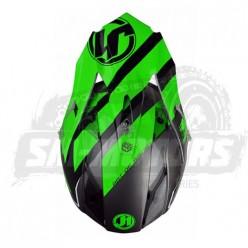 Шлем (кроссовый) JUST1 J32 PRO Kick зеленый/белый/титановый