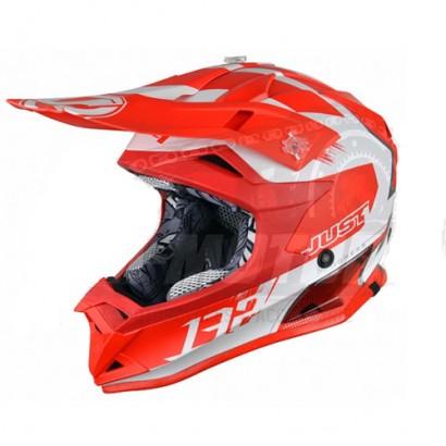 Шлем (кроссовый) JUST1 J32 PRO Kick белый/красный