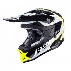 Шлем (кроссовый) JUST1 J32 PRO Kick белый/желтый/черный