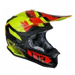 Шлем (кроссовый) JUST1 J32 PRO Kick черный/красный/желтый