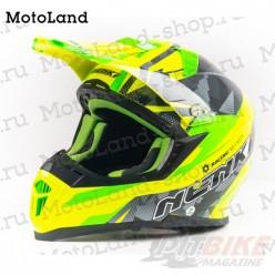 Шлем (кроссовый) NENKI 316 yellow/green/black