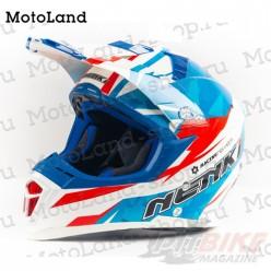 Шлем (кроссовый) NENKI 316 white/blue/red