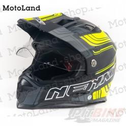 Шлем (Мотард) NENKI 313 matt/black/yellow