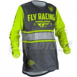 Джерси FLY RACING KINETIC ERA (2018) серый/желтый
