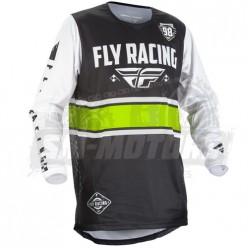 Джерси FLY RACING KINETIC ERA (2018) черный/белый