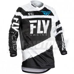 Джерси FLY RACING F-16 (2018) черный/серый
