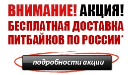 Бесплатная доставка питбайков по России