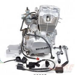 Двигатель 150см3 162FMJ CG150 (62x49,5)грм штанга, 5ск