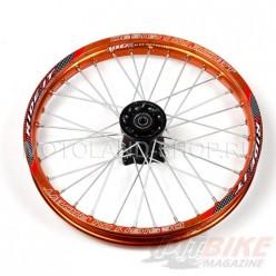 """Обод 17"""" передний алюминий (1,60-R17 d=15mm) оранжевый"""