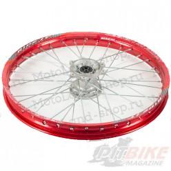 """Обод 21"""" передний алюминий (1,60-R21 d=15mm) красный XR250"""